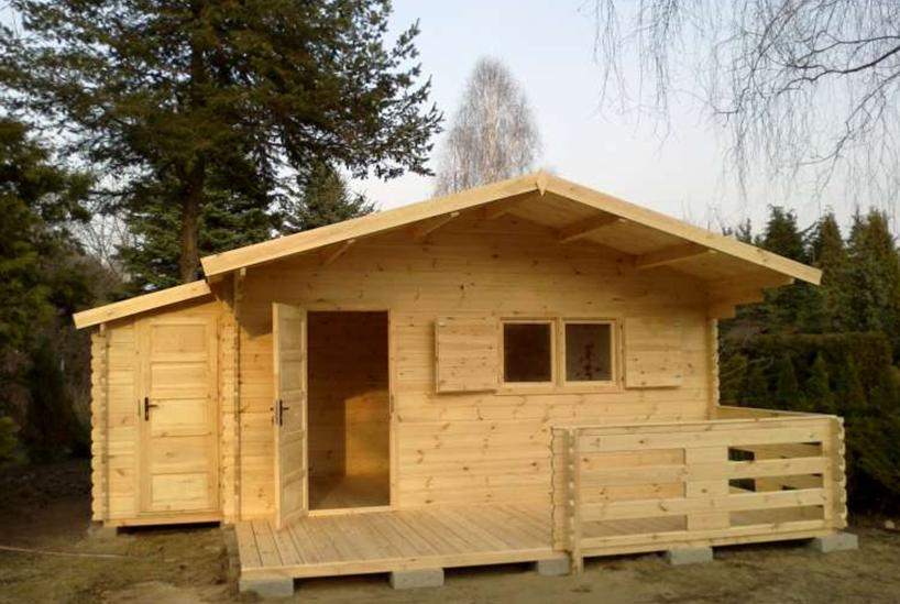 Aktualne Domek ogrodowy - drewutnio-narzędziownia - Domy drewniane - forum FR32