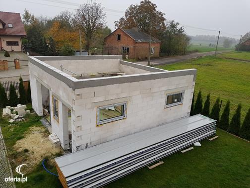 Dodatkowe Dach z płyty warstwowej. Konstrukcja plus montaż płyt. Pabianice RQ12