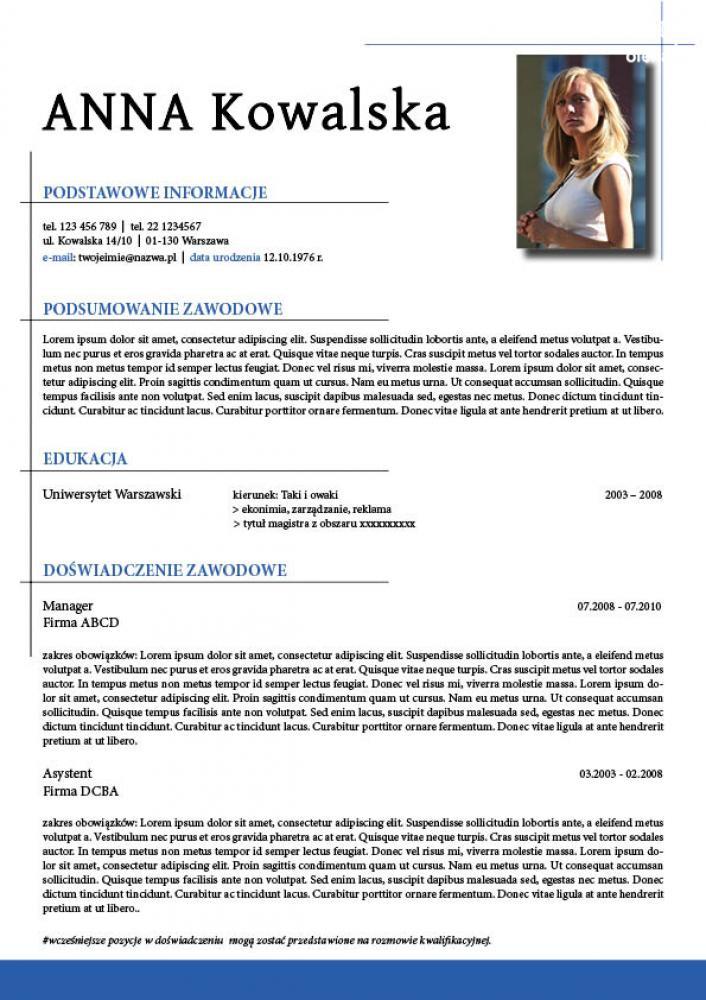 pi u0119kne profesjonalne graficzne cv i  lub list motywacyjny