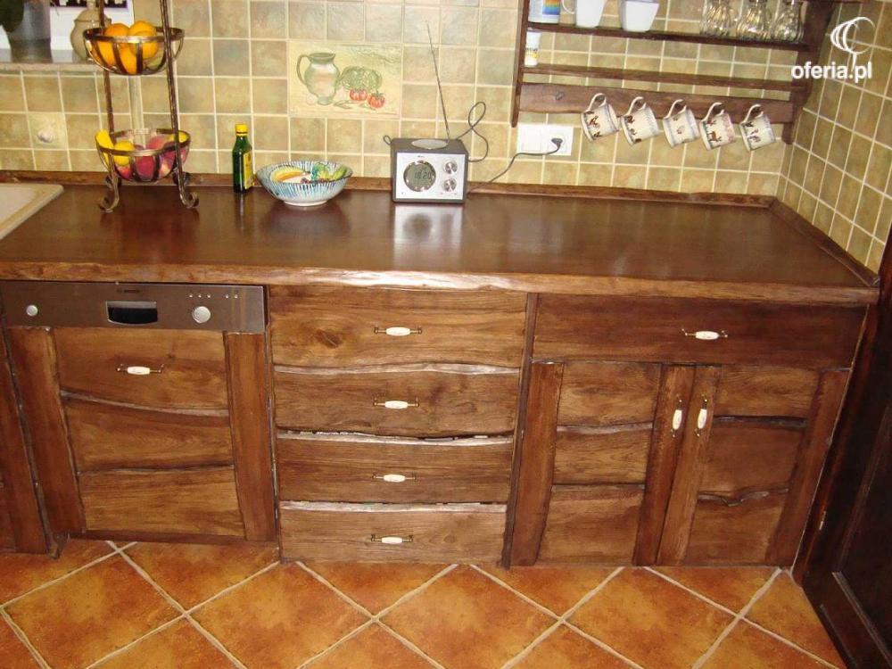 Meble kuchenne rustykalne drewniane Kowary • Oferia.pl